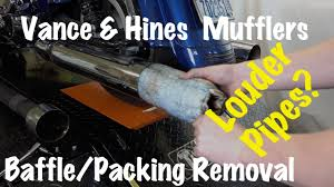 Vance And Hines Dresser Duals Heat Shields by How To Remove Baffles Packing From Vance U0026 Hines Pipes Mufflers