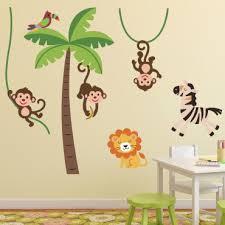 stickers jungle chambre bébé animaux de la jungle stickers chambre bébé stickers enfant