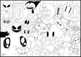 Coloring Pages For Adults Abstract Animals Detailed Free Printable Christmas Online Page Adult Doodle Monster World