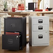 2 drawer locking a4 filing cabinet pfa2 black