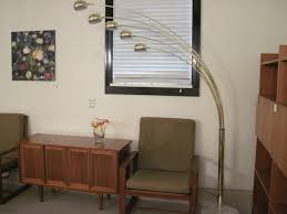 Brass Arc Floor Lamp And