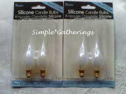 4 5 watt bulbs silicone dipped for electric candle ls