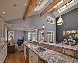 vaulted ceiling lighting ideas contemporary kitchen skylights