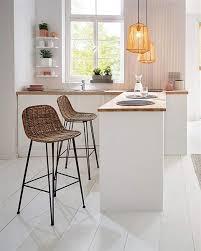 bar stuhl modern line aus rattan sitz höhe 67cm korb
