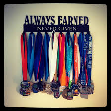 Always Earned Never Given Race Medal Display