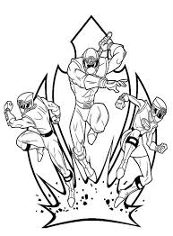 Power Rangers Ninja Storm To Release The Sword Coloring Page