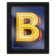 Jigsaw With A Frame Letter B Jigsaw Puzzle PuzzleWarehousecom