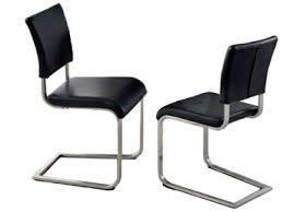 niehoff stuhl freischwinger 5561 3er set esszimmerstuhl in leder lara in echtleder brasil schwarz gestell edelstahl luxus für ihr speisezimmer