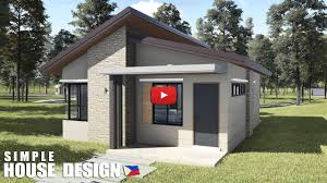 104 Skillian Roof Simple House Design 2020 55 Sqm Floor Area 2 Bedrooms Skillion Type Youtube