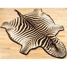 Rugs Unique Interior Rugs Design With Exciting Zebra Skin Rug