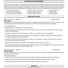 store manager resume template retail manager cv 3 simple store