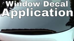 How To Apply A Vinyl Die Cut Decal To A Car Window - YouTube Truck Window Decals Harley Davidson Trucks Graphics Best In Calgary For Cars Business High Quality Window Decals Auto Motors Intertional Moose Rear Graphic Decal Suv Clear Car Decalsclear Stickerscar Attn Ownstickers The Rear Or Not Mtbrcom Dodge Ram Head Vinyl Sticker Mopar Dodge Ram Unique 28 Sample Stickers And Eirasimprsoescom