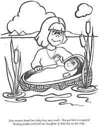 Free Baby Moses Coloring Pages