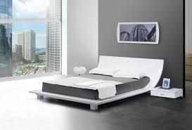 bedroom new design unique white japanese low platform bed frame