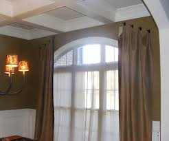 Arched Or Curved Window Curtain Rod Canada by Greensboro Interior Design Window Treatments Greensboro Custom