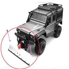 100 Rc Truck Snow Plow Crawler Car Upgrade Part Aluminum Alloy Blade