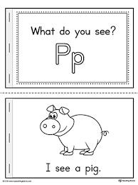 Letter P Words Printable Mini Book
