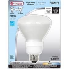 utilitech 15 watt 65w br30 medium base bright white 3500k cfl