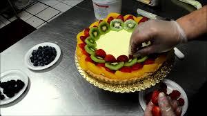 Cakes Decorated With Fruit by Fruit Tart Cake Demonstration Fresh Fruit Cake Youtube