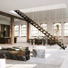 100 Lofts In Manhattan Ny Hanging Staircase Divides Spacious New York Loft By DJDS