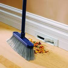 Dust Collector Floor Sweep by Toe Kick Vacuums May Be The Most Genius Kitchen Invention Ever
