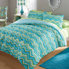 Walmart Bedding Sets Twin by Your Zone Ruched Chevron Bedding Comforter And Sham Set Walmart Com