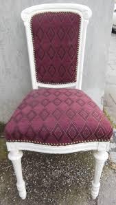 shabby chic stuhl weisser stuhl massivholz stuhl frisch gepolstert