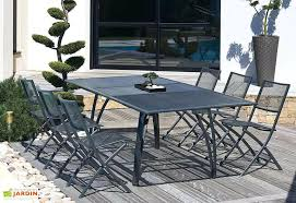 stunning table de jardin aluminium iris images amazing house