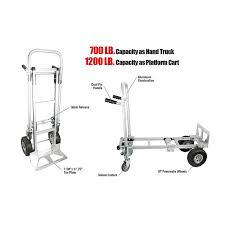 Amazon.com: Pack-N-Roll 83-295-917 Convertible Aluminum Hand Truck ... 550 Pound Capacity Loop Handle Hand Truck Mighty Lift Magliner Gemini Jr Convertible Gma16uaf Bh Photo Set Of 4 Swivel Casters 3 X 114 Gray Rubber Wheel 155 Cap 2 Amazoncom Packnroll 85034 2in1 600 Lbs Vestil Four Mulposition Steel 1250 Lb Xl Alinum 5 Universal Hand Truck Replacement Caster 350 Lbs Capacity Sydney Trolleys At84 Folding Treyscollapsible Milwaukee 800 Truckcht800p Upc 850648003556 Utility Carts Snaploc Trucks 1500 Moving Supplies The Home Depot 3500 Truck30152