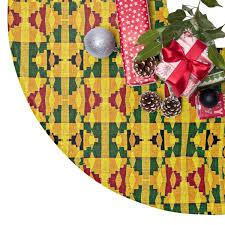 Joy Kente Print Christmas Tree Skirt