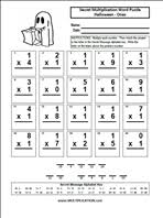 Halloween Math Multiplication Worksheets by Worksheets Halloween Multiplication Worksheets Opossumsoft