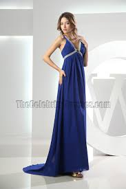 royal blue v neck prom dress evening formal dresses