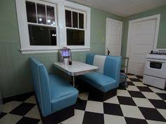 Kitchen Diner Booth Ideas by Black And White 50 U0027s Diner Cruiser Diner Booth Set 50s Diner