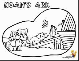 Wonderful Printable Noah Bible Coloring Page With Free Pages And