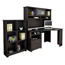 Cheap L Shaped Desk With Hutch by Workspace Bush Vantage Corner Computer Desk Bush Furniture