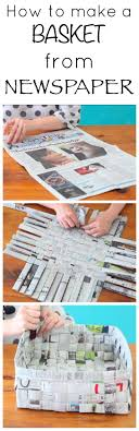 Fun Craft Project How To Make A Basket From Newspaper Super Activity For Kids