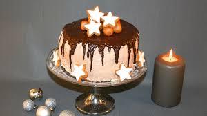 weihnachtliche nougat marzipan zimt torte mit eierlikör