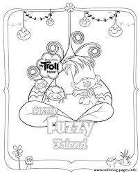 Dreamworks Trolls Fuzzy Coloring Pages
