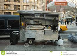 View Of A Food Truck In NYC Editorial Stock Photo - Image Of Vans ...