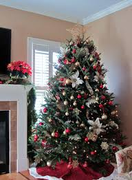 Silver Gold And Red Christmas Tree Thewowdecor