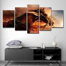 großhandel leinwand bilder modern für wohnzimmer wohnkultur 5 stücke tier war gemälde wandkunst hd drucke poster print art canvas 14
