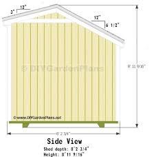 10x8 saltbox shed plans garden shed pinterest