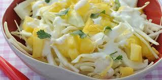 comment cuisiner le choux blanc salade de chou blanc à l ananas facile et pas cher recette sur