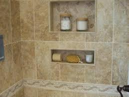 bathroom tile shower shelves recessed shoo niches home design