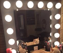 Vanity Makeup Mirror With Light Bulbs Table Lights Mirrors