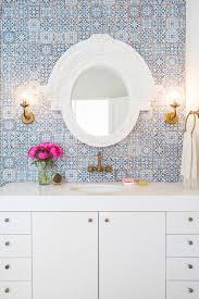 white and blue bathroom with fez blue vintage moroccan