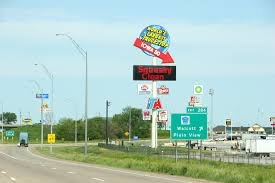 In Iowa, 633 Truck Stop Sign | Minnesota Prairie Roots