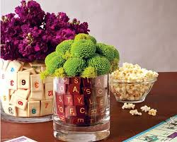 Diy Wedding Crafts Board Game Centerpieces