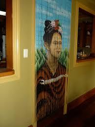 Doorway Beaded Curtains Wood by Frida Kahlo Beaded Curtain Juju Mamas