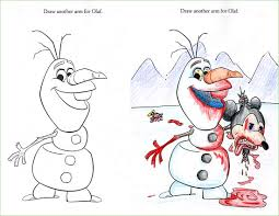 Coloring Book Corruptions Olaf Murder